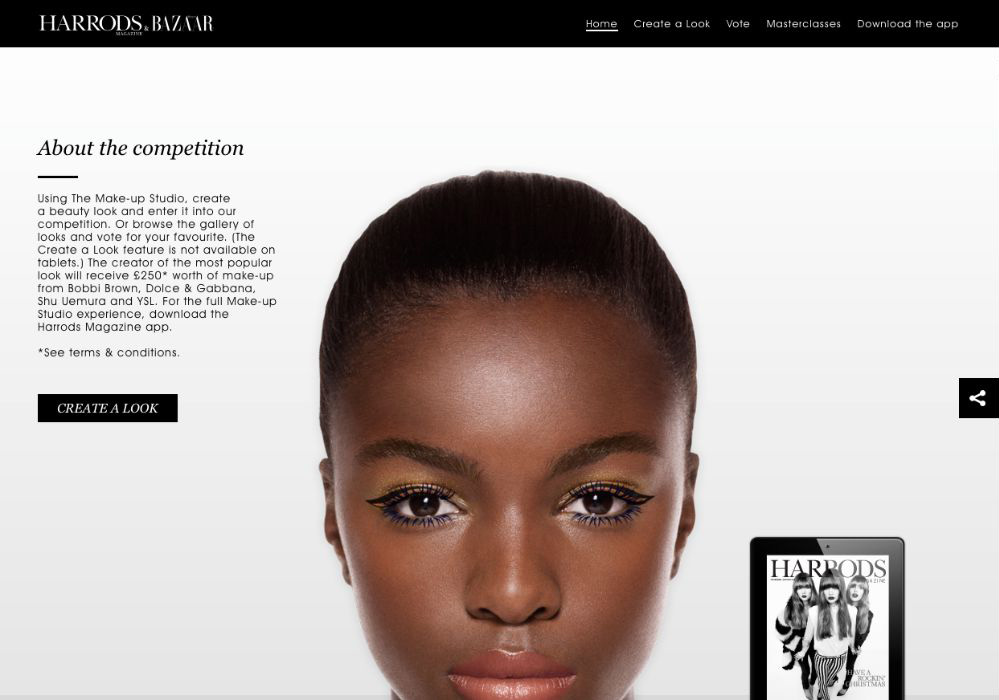 Harrods and Harpers Bazaar - Website