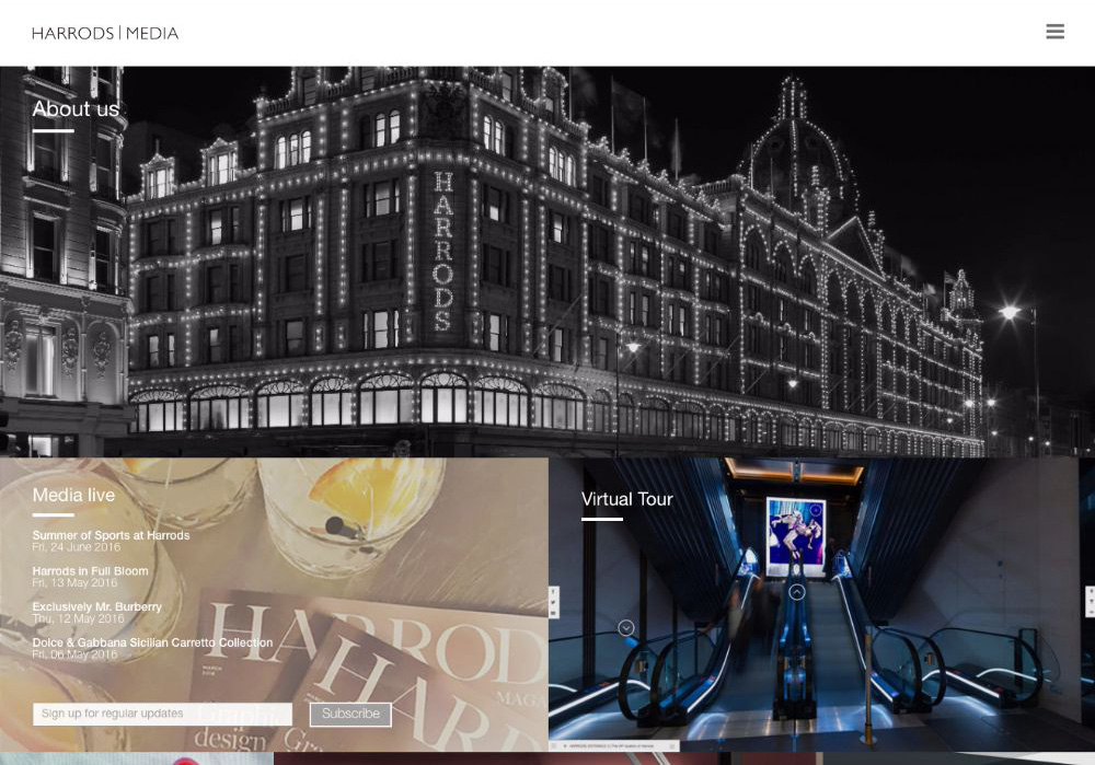 Harrods Media - Website